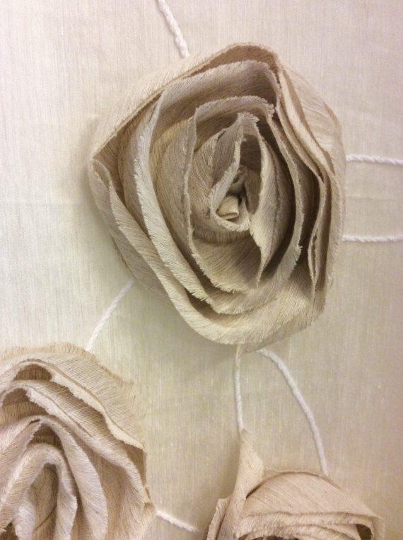 Tenda lino con rose